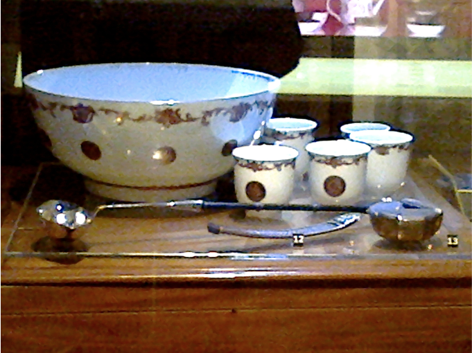 Bålskål med koppar, Ostindiskt porslin, 1700-tal